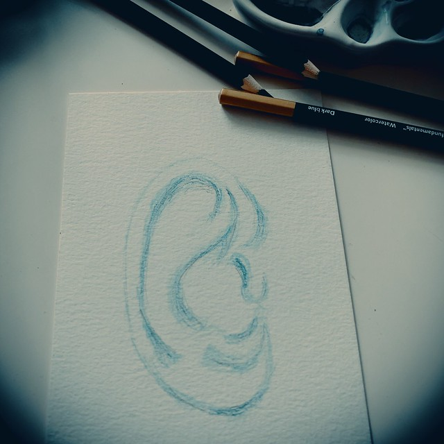 Ear Watercolor