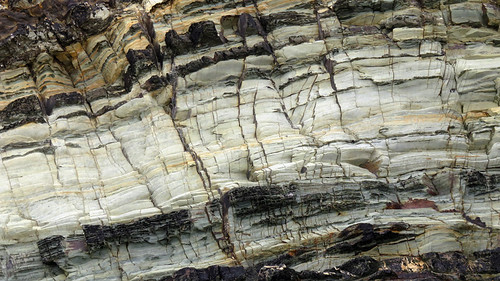 Fantastical striated rock textures on the cliffs at Galley Head