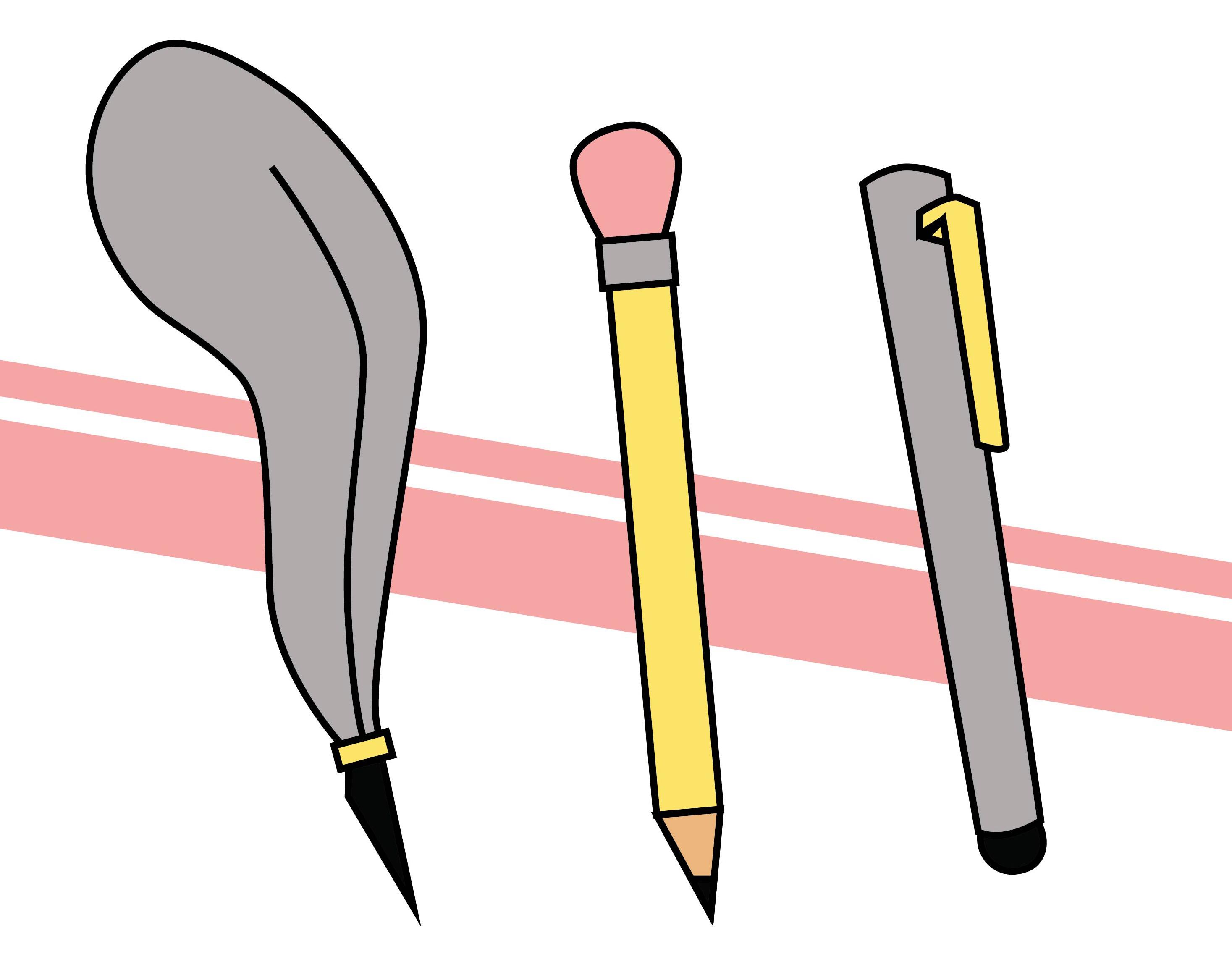 Quill pencil stylus illustration