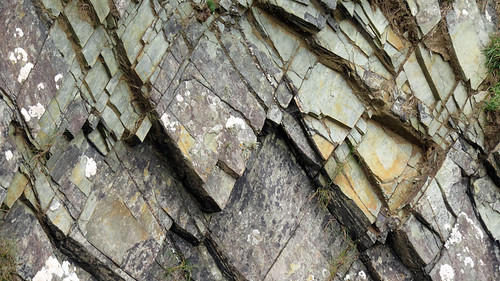 Fantastical jagged rock textures on the cliffs at Galley Head