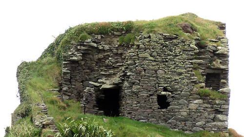 A stone ruin at Galley Head in Ireland