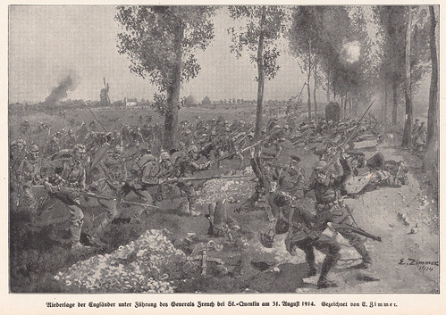 Germans defeat English near St. Quentin 31 August 1914