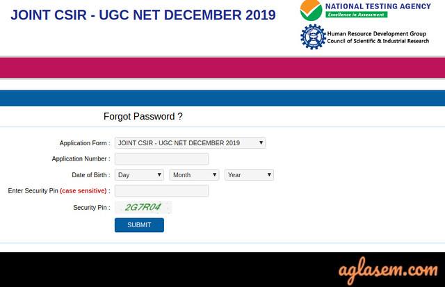 CSIR NET Login 2019 | CSIR UGC NET Exam Candidate Login