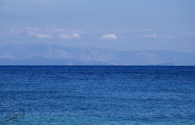 A natural background in blue, Paxos, Greece