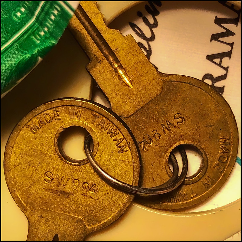 The keys to no one knows what...