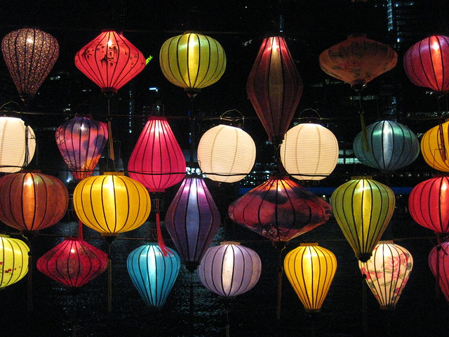 Chinese Lanterns by Night - Southbank Promenade, Melbourne