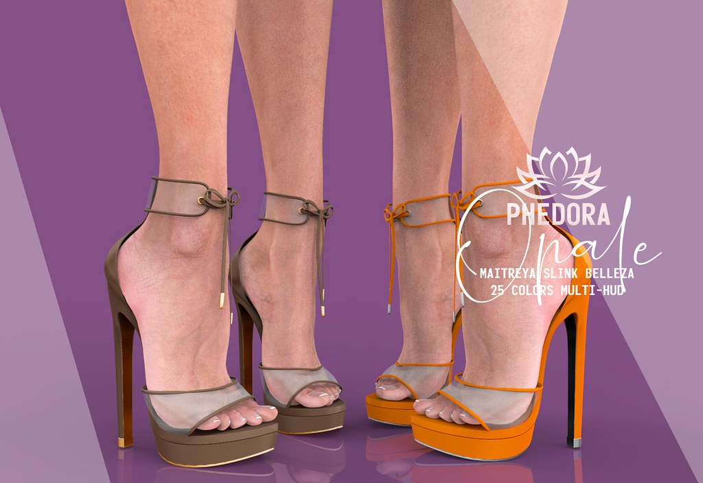 "Phedora. for TRES CHIC – ""Opal"" heels ♥"