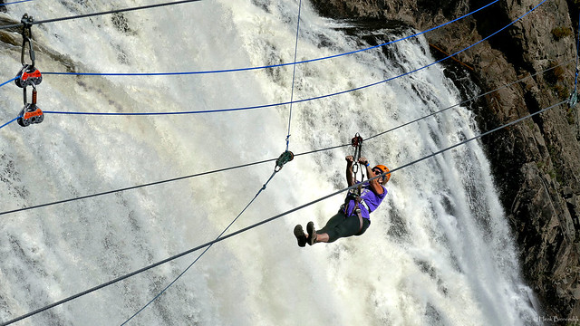 Canada: zipping the Montmorency Falls