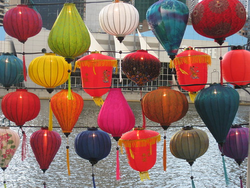 Chinese Lanterns by Day - Southbank Promenade, Melbourne