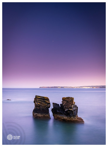 meadfoot beach torquay torbay brixham berryhead uk eu sunset seascape le night sky water rocks color blue purple stars light sonya7rii benrofilter nisi 3leggedthing picturedevoncouk
