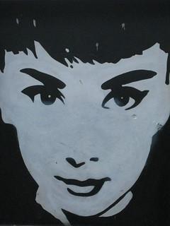 Audrey Hepburn Street Art - Southbank Promenade, Melbourne