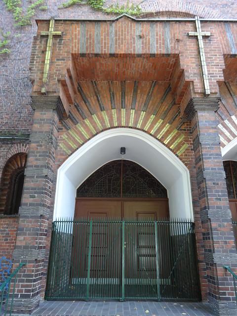 1929/32 Berlin Portal katholische Kirche St. Christophorus von Karl Kühn Nansenstraße 4-6 in 12047 Neukölln