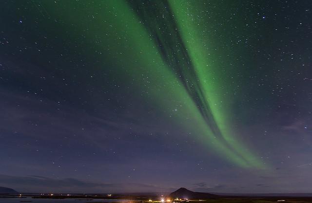 Northern lights at Mývatn