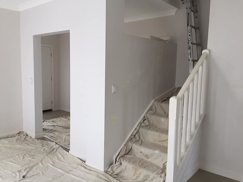 painting begins stairs