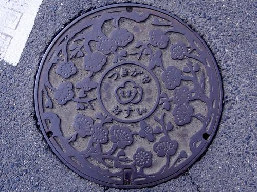 Tsukigase Nara, manhole cover 2 (奈良県月ヶ瀬村のマンホール2)