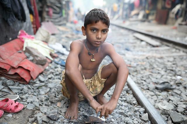 Bangladesh, street boy in Dhaka
