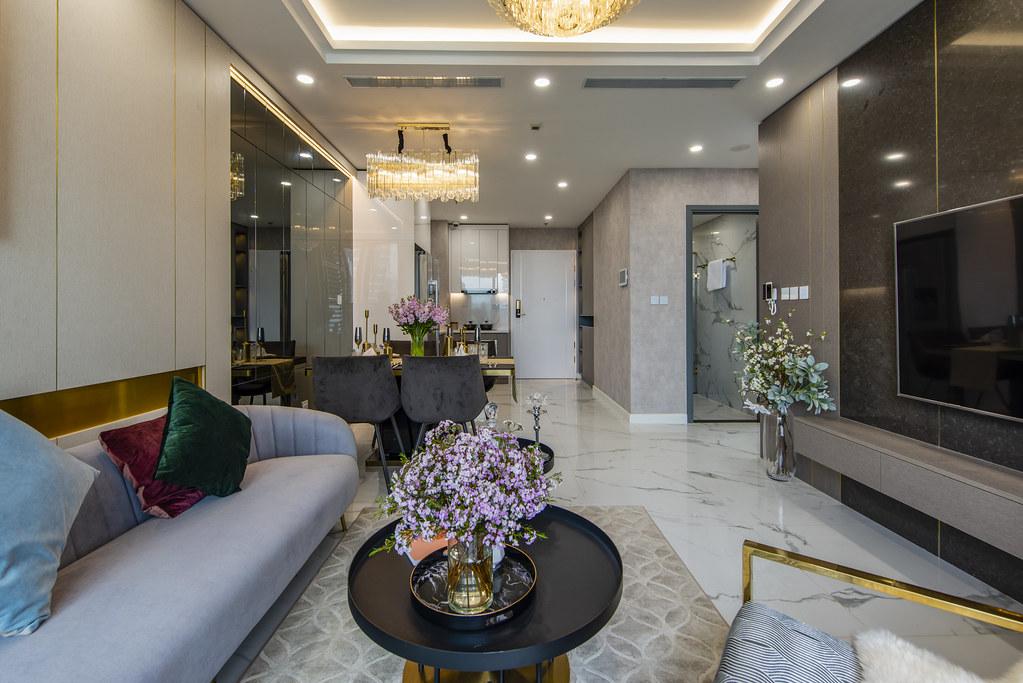 Tham quan căn hộ nhà mẫu 2 phòng ngủ Sunshine City Saigon Quận 7 9