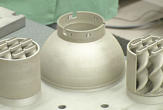 High-tech additive manufacturing, or 3D printing, takes the guesswork out of precisely fabricating a metal hollow object, while tweaking and fine-tuning the properties of the material composing it. These components were fabricated at the Sigma Complex at LANL.