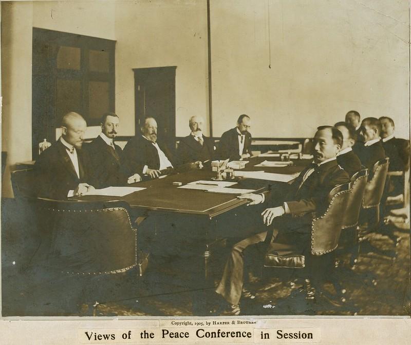 Участники мирной конференции в Портсмуте