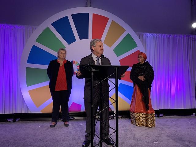 65- António Guterres_Erna Solberg_Amina J Mohammed_SDG Action Zone 2019