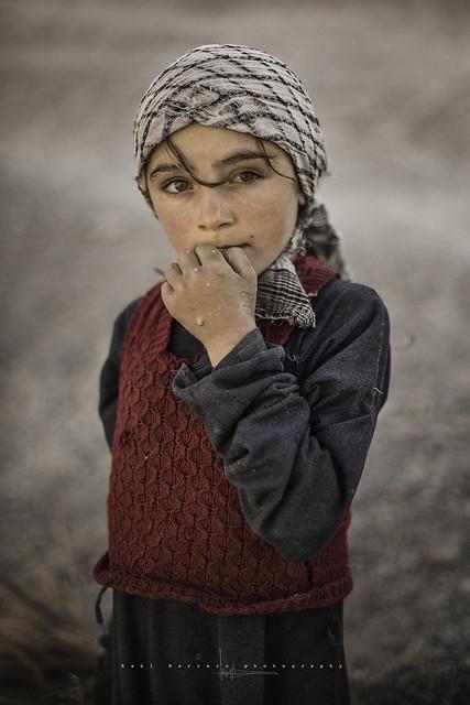 Little wakhi shepherdess in Sarkan. Wakhan Corridor, Afghanistan.