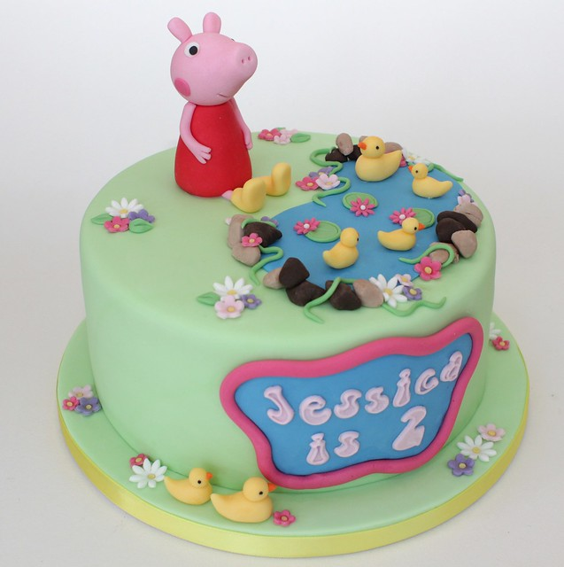 peppa duckpond cake