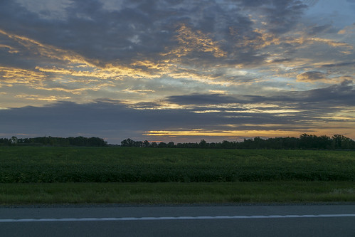 jeffersontownship ohio williamscounty field farmland landscape sunrise clouds colors morning road dawn