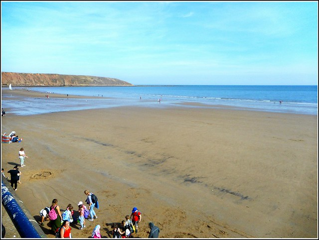 Filey Beach in North Yorkshire ...