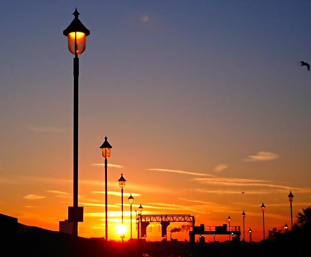 Sunset, Birmingham Moor Street.