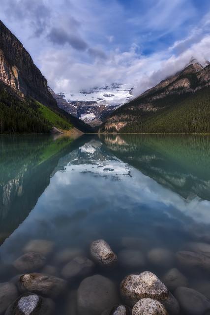 Lake Louise early morning, Banff National Park, Alberta, Canada