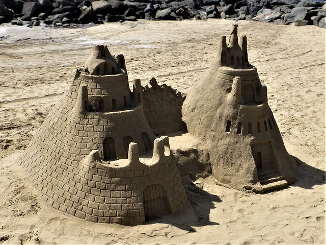 Maspalomas = Gran Canaria = sand sculptures