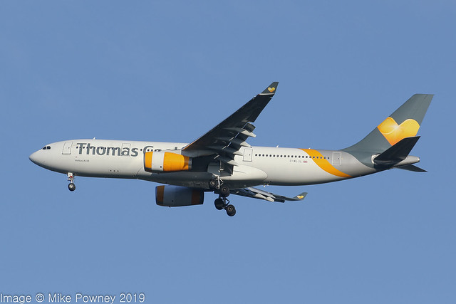 G-MLJL - 1999 build Airbus A330-243, end of the road, the final UK Thomas Cook flight inbound to Manchester