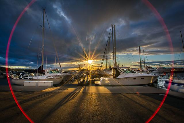 Sunset on Green Bay