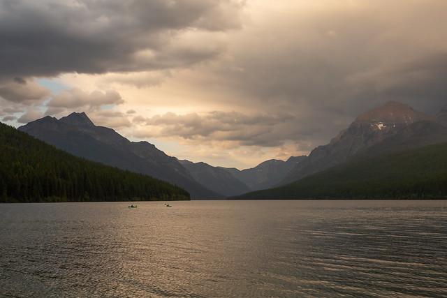 Kayaking Bowman Lake