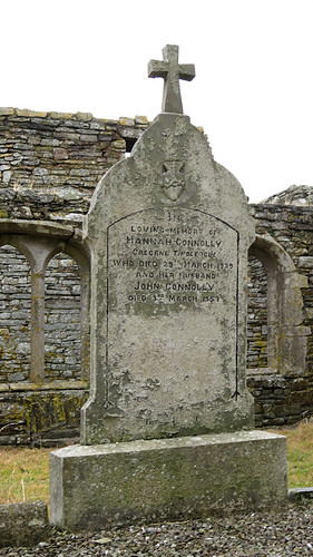 Tomb stone in the cemetery at the Timoleague Friary Ruins in Ireland