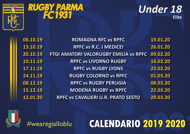 Calendario Under 18 Elite 2019/20