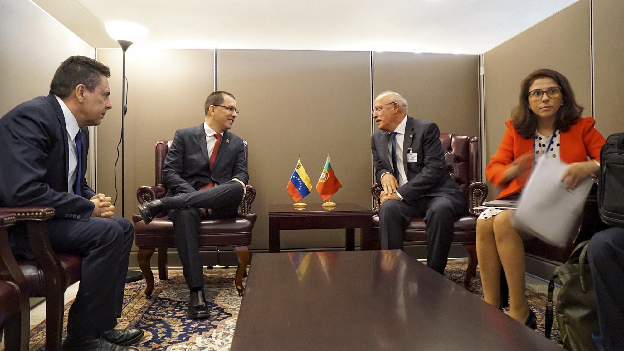 Venezuela y Portugal abordan cooperación bilateral durante 74° periodo de sesiones de la ONU