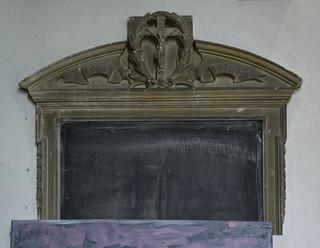 war memorial, name plaque lost