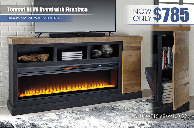 Tonnari XL TV Stand with Fireplace_W715-68-W100-22