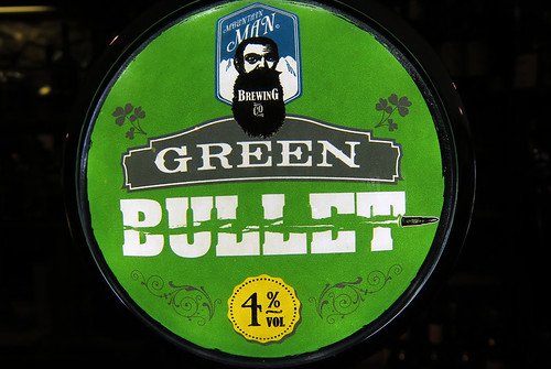 Green Bullet beer tap in a pub in Timoleague, Ireland