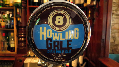 Howling Gale Irish Pale Ale beer tap in a pub in Timoleague, Ireland