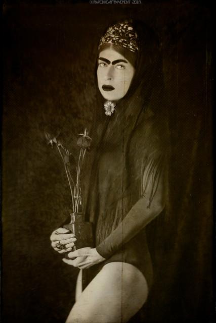 CRISIS: a 52 Week Self-portrait Project│ Self-portrait In a Black Scarf (10/52)