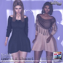 [WellMade] Neila Dress & Shawl