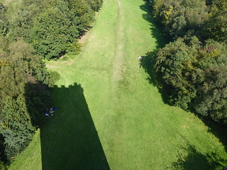 Shadow of King Alfred's Tower, Stourhead, Witshire