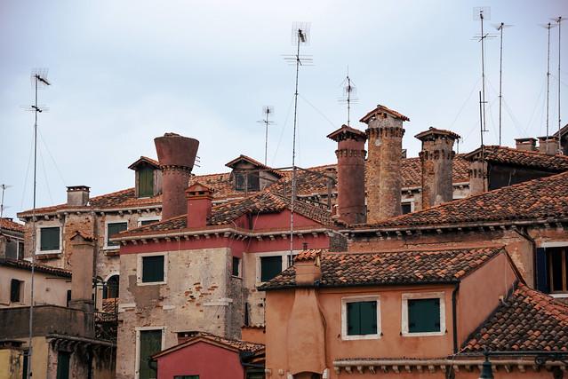 Venice - windows and chimneys
