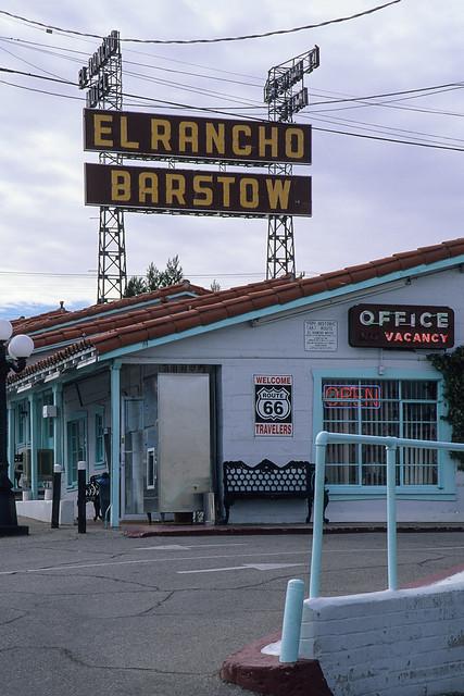 el rancho motel / route 66. barstow, ca. 1999.