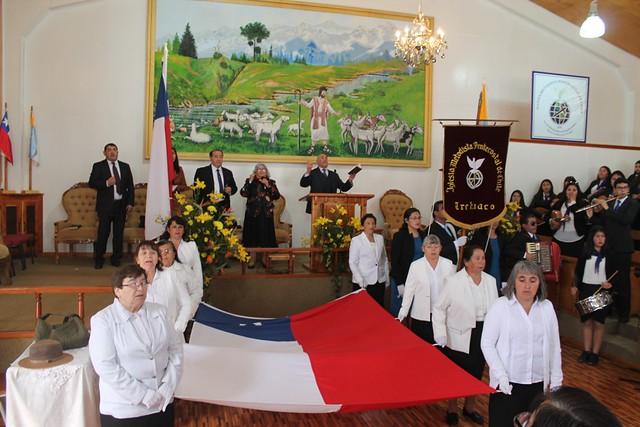Desfile Fiestas Patrias Iglesia de Trehuaco