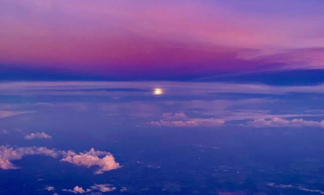 Moonrise at Sunset over Florida