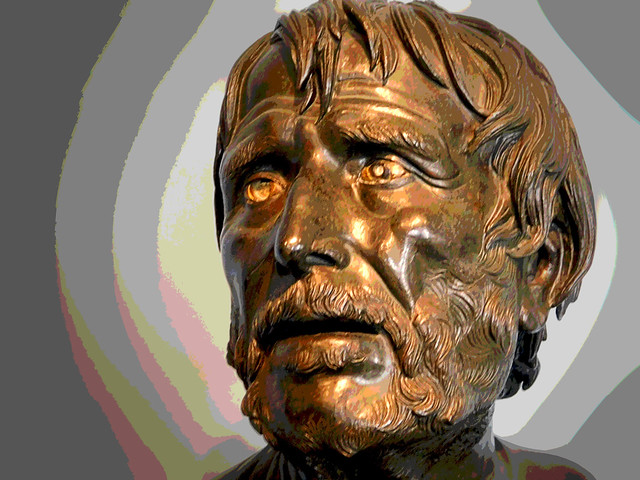 Poet thought to be Seneca, Getty Villa (posterized)