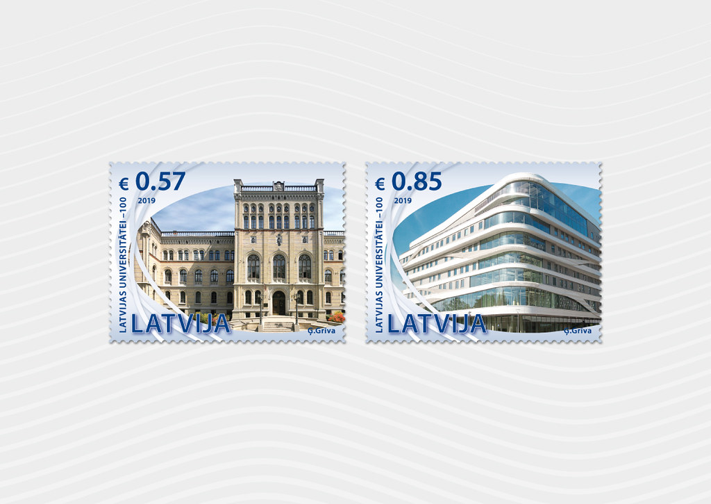 Pastmarkas - Latvijas Universitātei 100